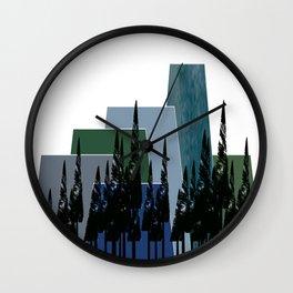 High Mountains Wall Clock