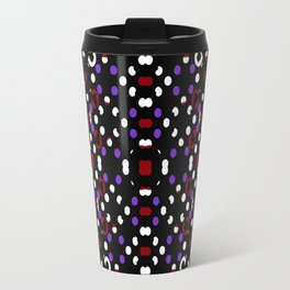 Futuristic Geometric Pattern Travel Mug