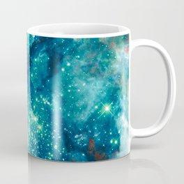Teal Brown Glitter Sparkle Stars Coffee Mug