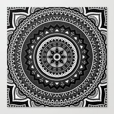 Black and White Mandala Canvas Print