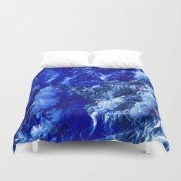 Abstración Océanica Azul Duvet Cover