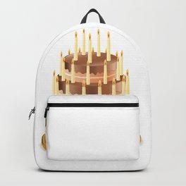 Big chocolate cake Backpack