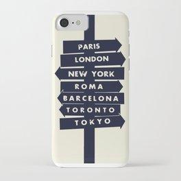 City signpost world destinations iPhone Case