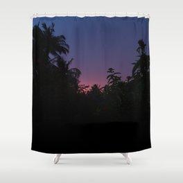 Sunset o the Maldives Shower Curtain
