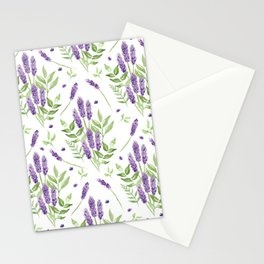 Lavender watercolour pattern Stationery Cards