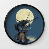 werewolf Wall Clocks featuring Werewolf! by drubskin