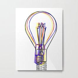 Light Bulb Metal Print