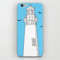 lighthouse iPhone & iPod Skins featuring Lighthouse by Janko Illustration