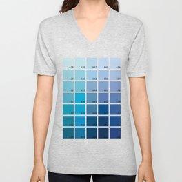 Shades of Blue Pantone Unisex V-Neck