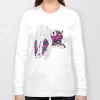 wolf Long Sleeve T-shirts featuring ▲SHE-WOLF▲ by Kris Tate