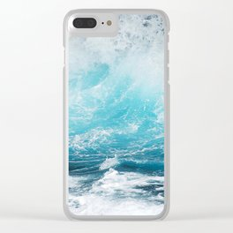 BLUE WAVES - 11318/3 Clear iPhone Case