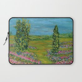 Tulip Hill, Impressionism Flower Landscape Laptop Sleeve