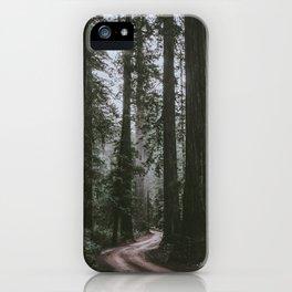Redwoods Road iPhone Case