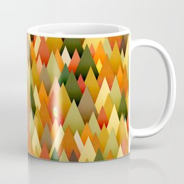 071 – deep into the autumn forest texture II Coffee Mug