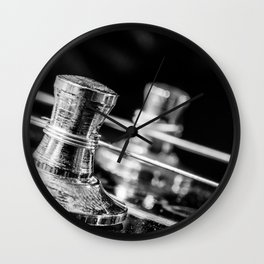 In Tune close up electric guitar tuning post and string Wall Clock