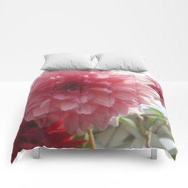 Pretty Pink Dahlia Ruffles Comforters