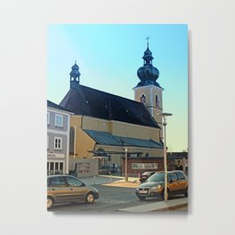 The village church of Altenfelden | architectural photography Metal Print
