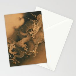 Kanō Hōgai Two Dragons in Clouds Stationery Cards