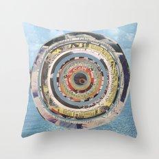 Round Sea Throw Pillow