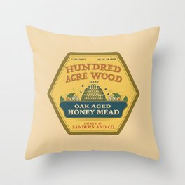 Hundred Acre Wood Honey Mead Throw Pillow