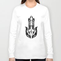 hamsa Long Sleeve T-shirts featuring Hamsa by FractalFox