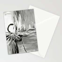 Abstract modern, black white Stationery Cards