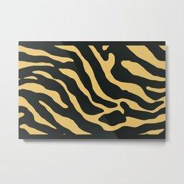 Tiger Skin Pattern Sandy Brown Metal Print