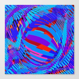 diagonal bars, swollen Canvas Print
