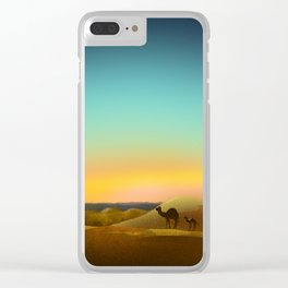 Sahara Sunset Clear iPhone Case