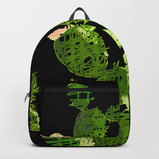 weird cactus black version Backpack