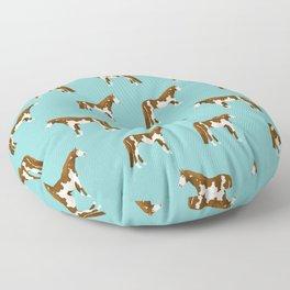 Pinto Horse gifts farm animal pet lover horseback riding Floor Pillow