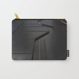 Futuristic technology, brushed metal shapes with glowing lines Carry-All Pouch