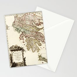1752 Map of Greece Stationery Cards