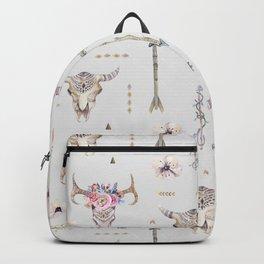 Boho Summer Skull Pattern Backpack