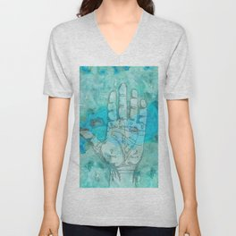 Agate Palm Reading Unisex V-Neck