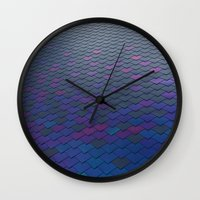 scales Wall Clocks featuring Scales by Sahara Novotny