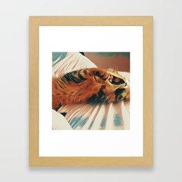 Leo's Monday morning Framed Art Print