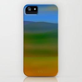 Warm Hillscape Sunset iPhone Case