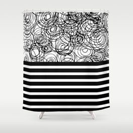 strong & confused Shower Curtain