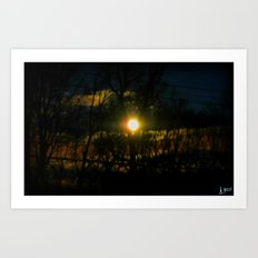 Electric Moonlight Art Print