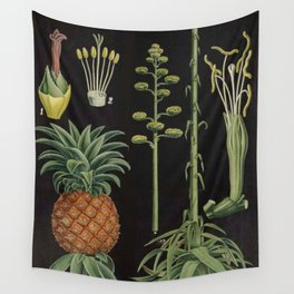Botanical Pineapple Wall Tapestry