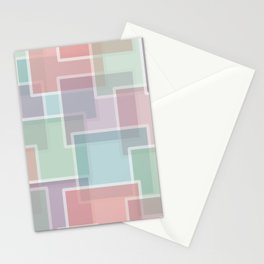 Lucite Pastel Squares pink, green, blue purple Stationery Cards