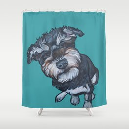 Benji the Schnoodle Shower Curtain