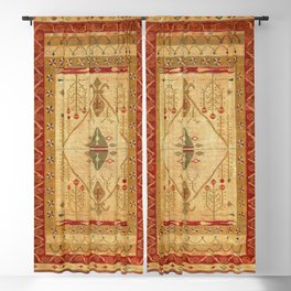 Bikaner Dhurrie Northwest Indian Cotton Kilim Print Blackout Curtain