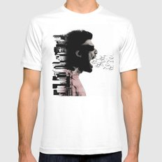cry city MEDIUM Mens Fitted Tee White