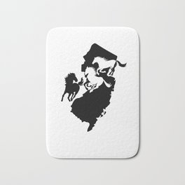 New Jersey State Horse Lover Black Bath Mat