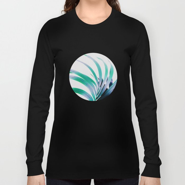 Colored Palm Leaf Long Sleeve T-shirt