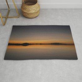 Sunset Salar de Uyuni 7 - Bolivia - Landscape and Rural Art Photography Rug