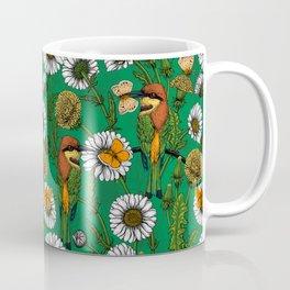 Bee eaters on a spring meadow    Coffee Mug