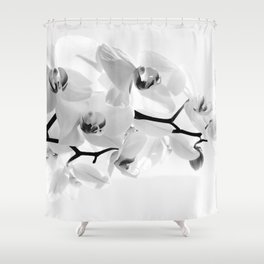 Sunhine Orchid Flower in White Shower Curtain